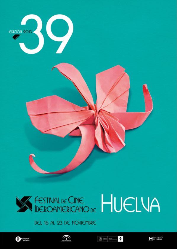 Cartel del 39 Festival de Cine Iberoamericano de Huelva.