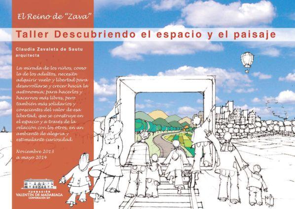 Cartel del taller para niñ@s de entre 8 y 12 años 'Descubriendo el espacio y el paisaje'.