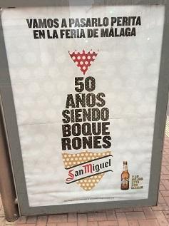 La palabra 'perita' en un cartel de la feria de Málaga 2016