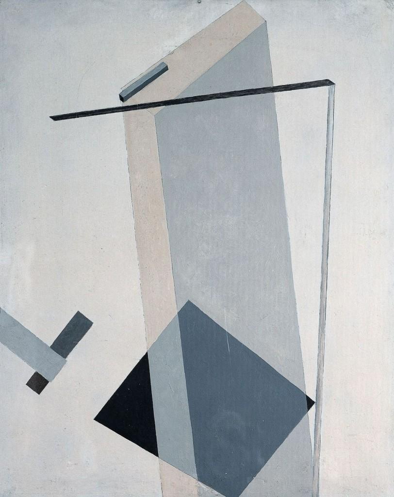 Proun 4B  1919-1920. El Lissitzky (1890-1941). Museo Thyssen-Bornemisza, Madrid