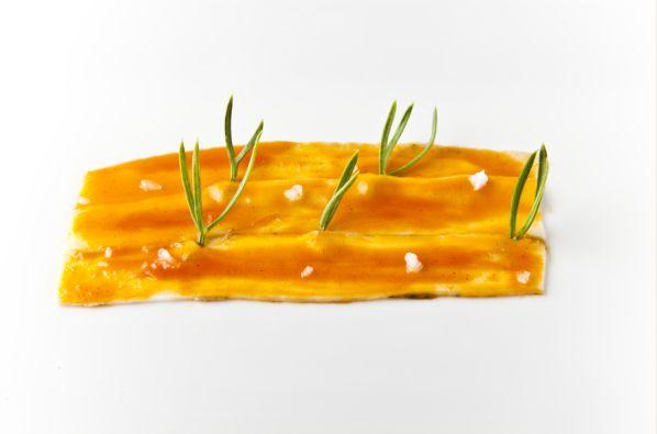 'Panceta entrambosmares' otra delicia culinaria creada por 'El Chef del Mar'.
