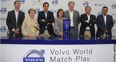 La rueda de prensa, Volvo world match play ©Michelle Chaplow