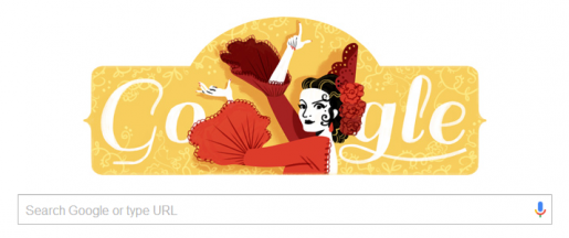 Lola Flores birth date tribute on google.es on 21 January 2016